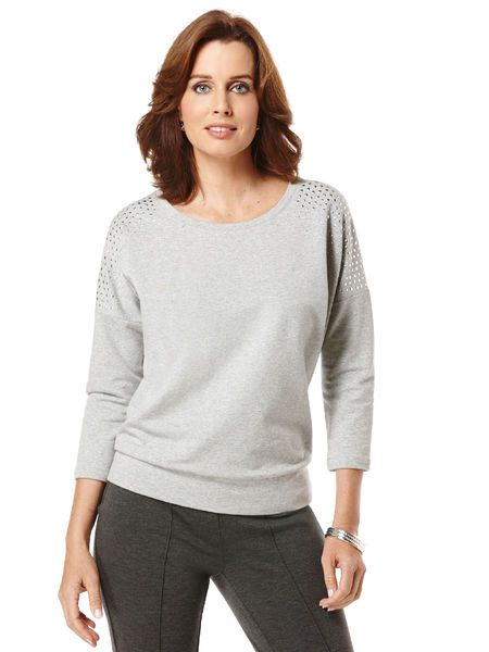 French Terry Drop Sleeve Top #holidaycontest