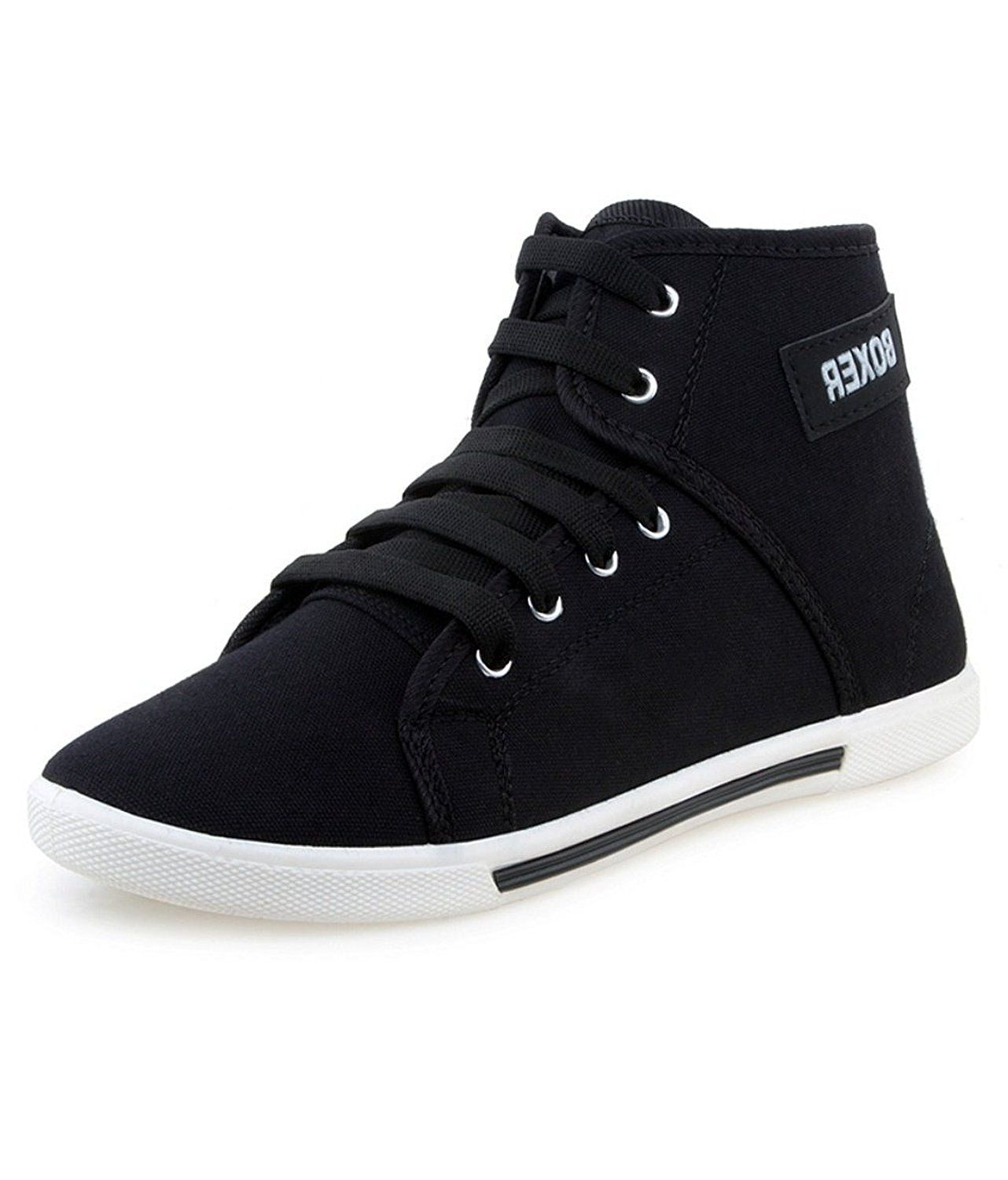 d7707e4a4ee Chevit Men s Black Casual Sports Sneaker Shoes  Buy Online at Low Prices in  India - Amazon.in