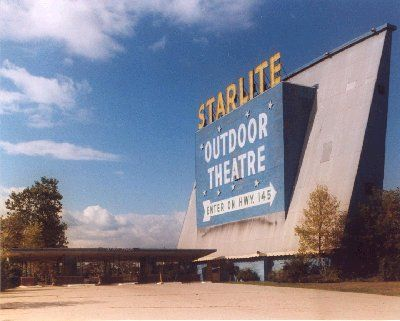 Starlite Drive In Meno Falls Wi Pangs Of Nostalgia For This Mive Aqua Painted Screen Seen Miles Away On The Highway