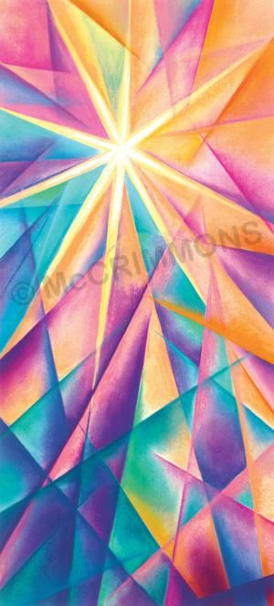 A Light for my Path - A Banner by Sr Mary Stephen 'in my artwork, I try to make visible God's invisible energy, that life which flows through all creation and is within everything.'
