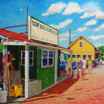 Colorful Painting Of One Of Our Landmark Restaurants Yacht Basin