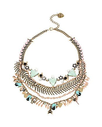 Wanderlust Multi Chain Frontal Necklace from Betsey ...