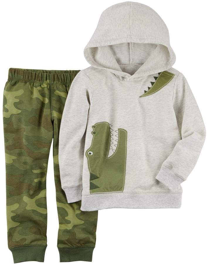 12db90327 Toddler Boy Carter's 2-pc. Alligator Hoodie & Camo Jogger Pants Set ...