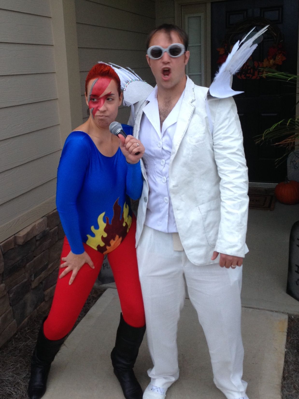 DIY David Bowie and Elton John costumes