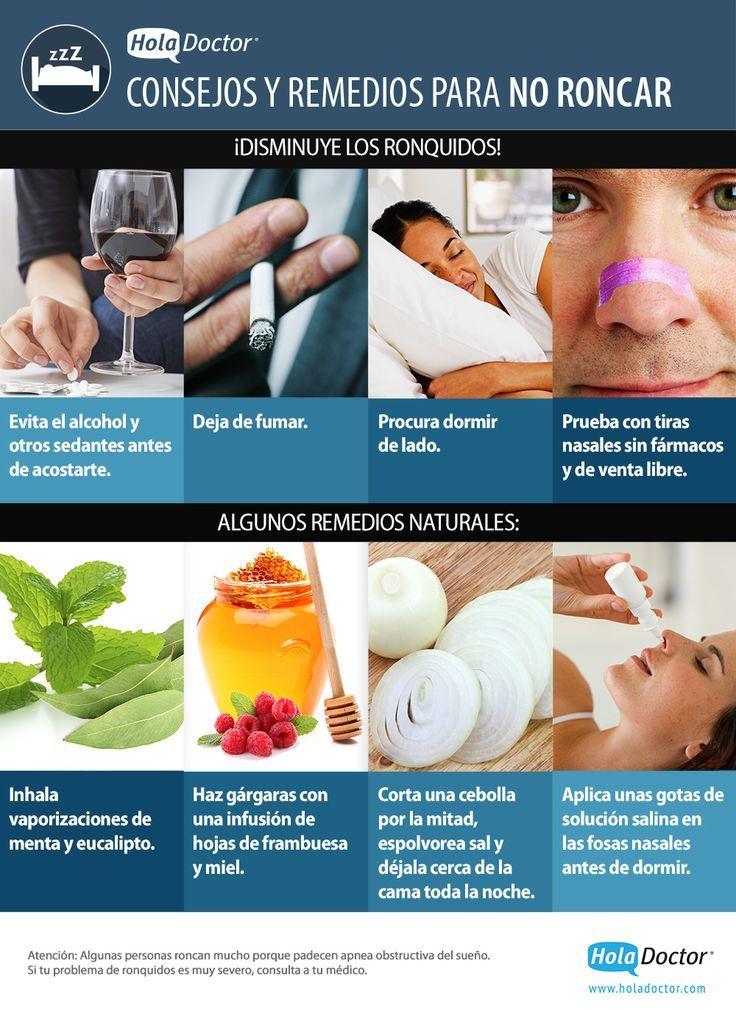 Como Dejar De Roncar Remedios Caseros Consejos Y Remedios Para Dejar De Roncar Health And Nutrition
