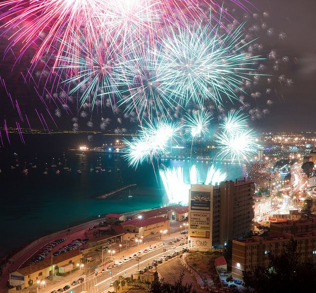 The shortest night of the year is June 21 (summer #solstice). In #Spain people celebrate it by lighting #bonfires in the city and by the #beach. It is an awesome sight.
