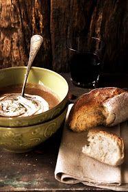 Pratos e Travessas: Sopa picante de feijão vermelho # Spicy red bean soup