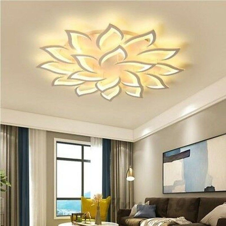 40 Affordable Ceiling Design Ideas With Decorative Lamp Trendehouzz Chandelier In Living Room Ceiling Lights Living Room Living Room Ceiling
