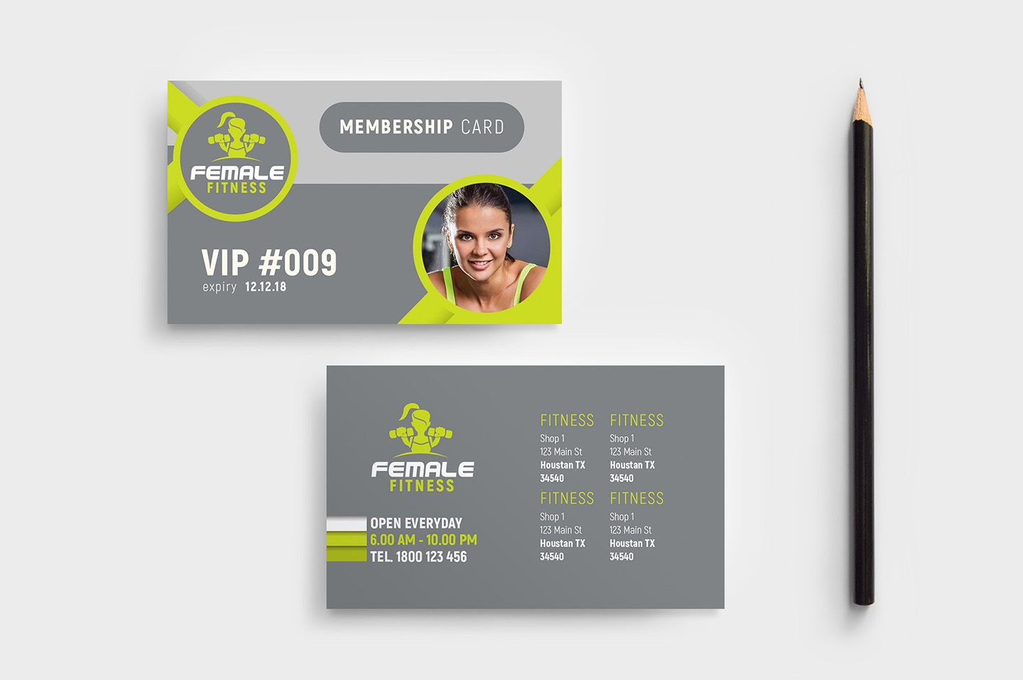 The Astounding Female Fitness Membership Card Template In Psd Ai Regarding Template For Membership Cards Imag Fitness Membership Membership Card Card Template