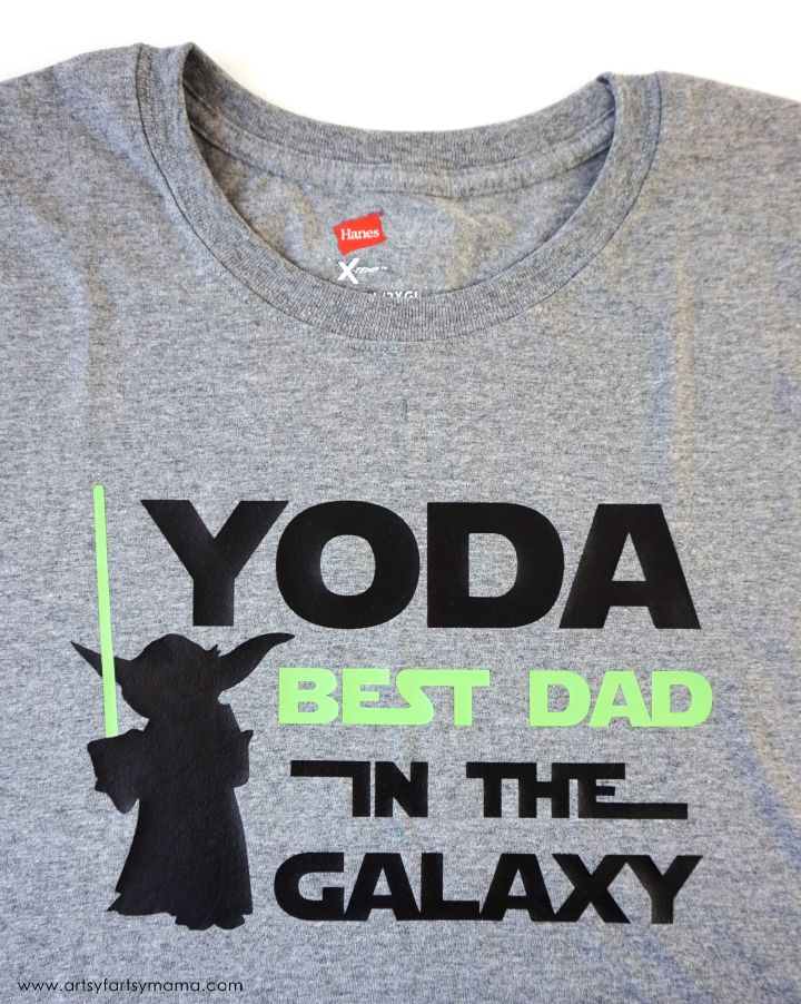 daef818b Use HTV from Expressions Vinyl to make dad a Yoda Father's Day Shirt with  free cut file!