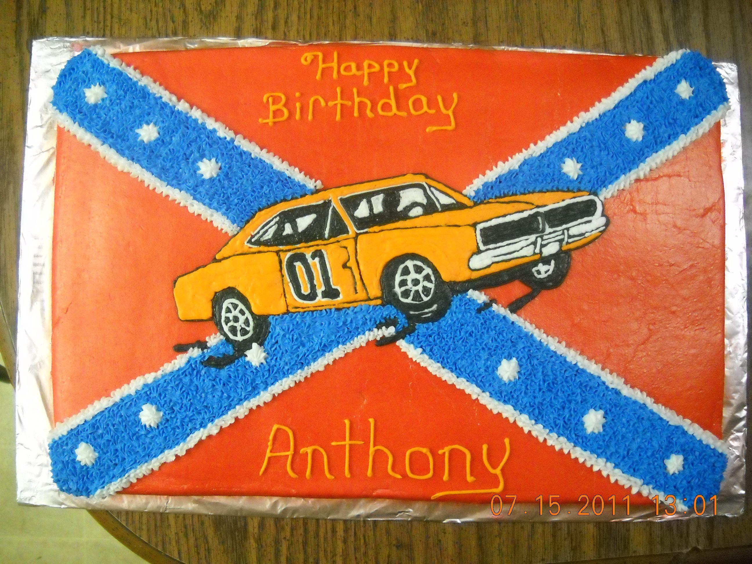 Dukes Of Hazzard Birthday Cake General Lee Birthday Cakes For