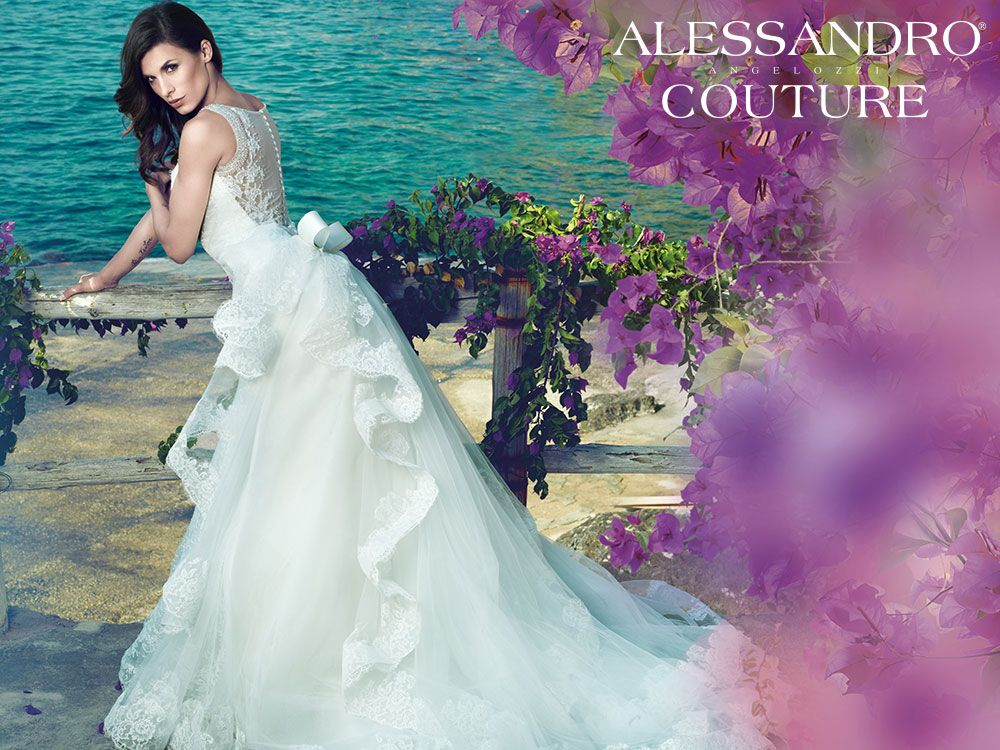 #WeddingDress #AlessandroAngelozziCouture #ElisabettaCanalis #Abitidasposa