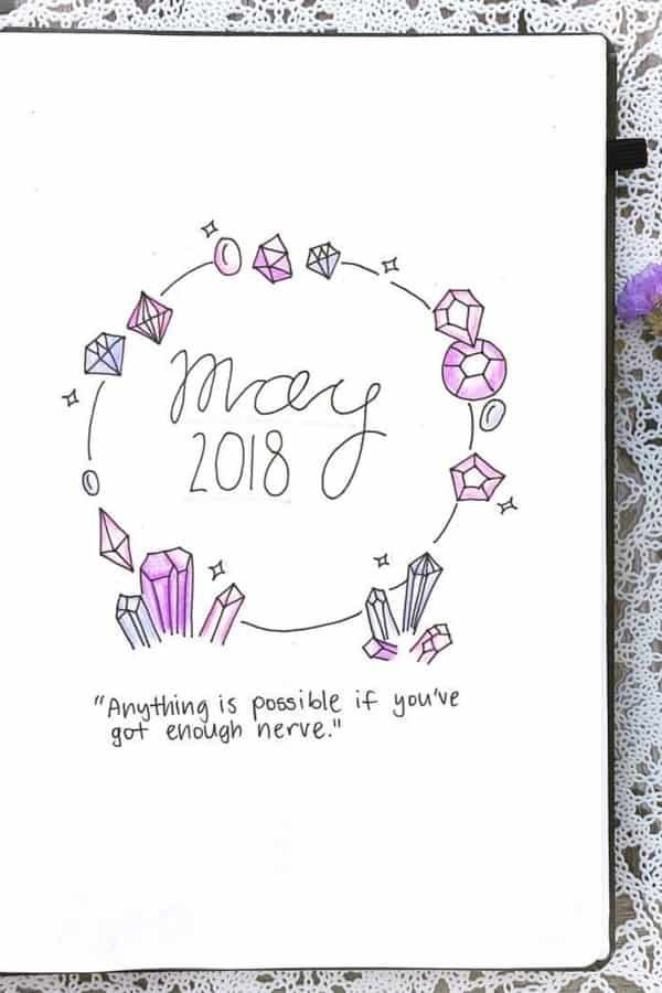 25+ Best Crystal Bullet Journal Spread Ideas for 2020 - Crazy Laura