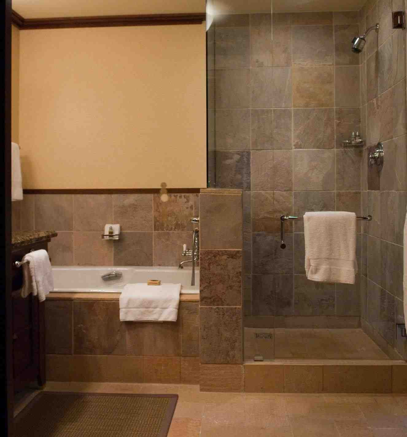 This Master Bathroom No Tub 37 Bathrooms With Walk In Showers Page 2 Of 7 Gorgeous Bathr Doorless Shower Design Doorless Shower Small Bathroom With Shower
