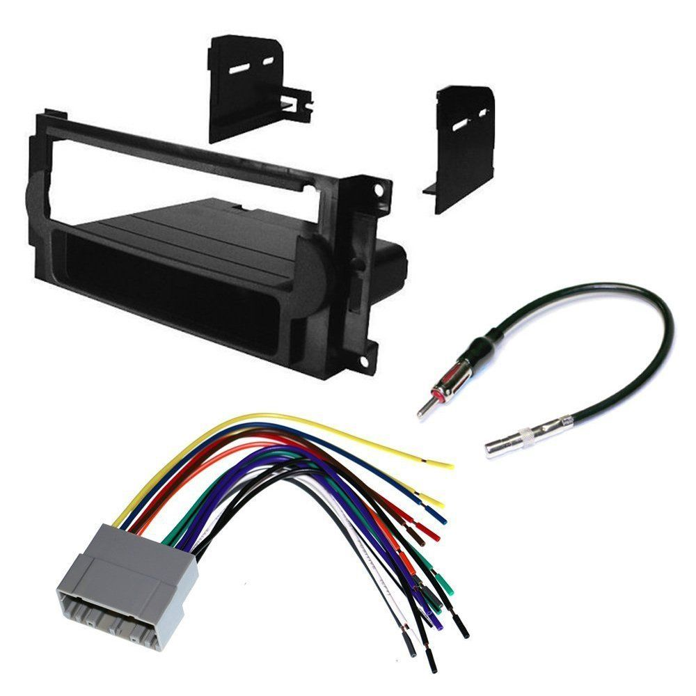 Car Cd Stereo Receiver Dash Install Mounting Kit Wire Harness Chrysler Radio Antenna Adapter For