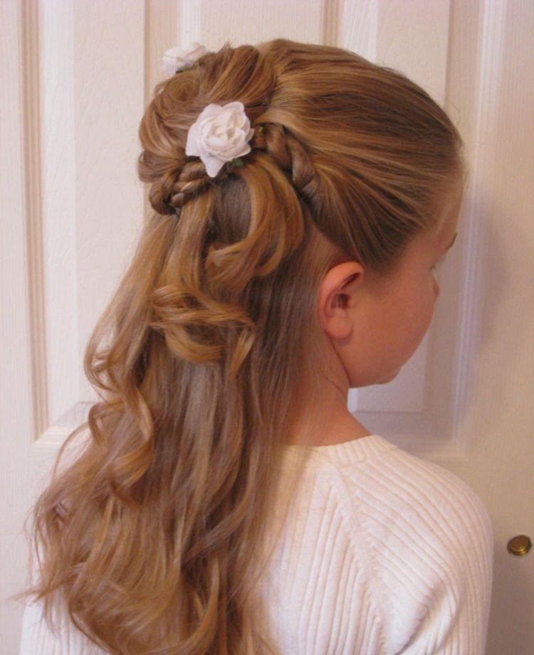 30 Kinderfrisuren Für Mädchen Zur Hochzeit Und Kommunion Neu Haar