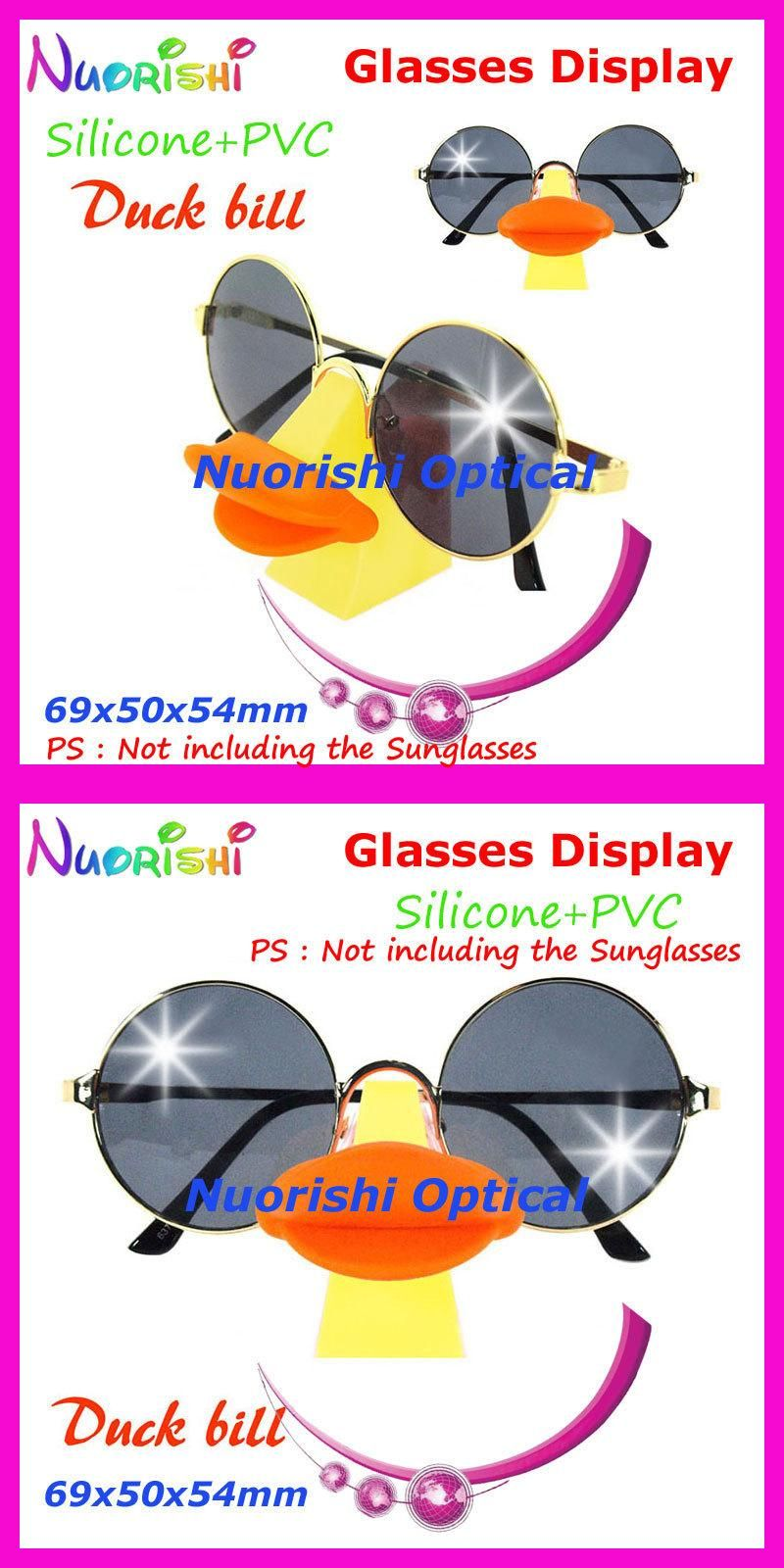 0f3700949119 Funny Duck Bill Design Eyeglass Sunglasses Glasses Props Shelf Display  Stands Holder Store Decoration CK46 Free Shipping