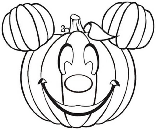Mickey Mouse Pumpkins Coloring Page Kids Play Color In 2020 Pumpkin Coloring Pages Free Halloween Coloring Pages Halloween Coloring Book