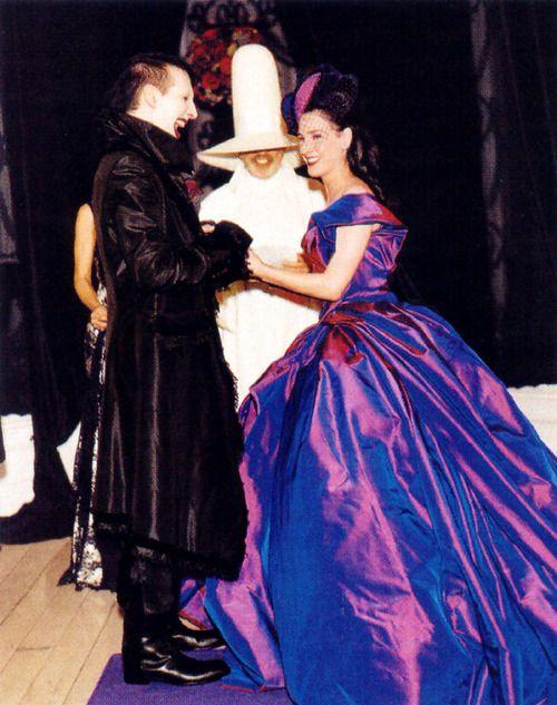 Dita Von Teese And Marilyn Manson Wedding