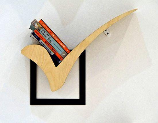Creative Shelves wooden book shelves, creative bookshelf design ideas for interior