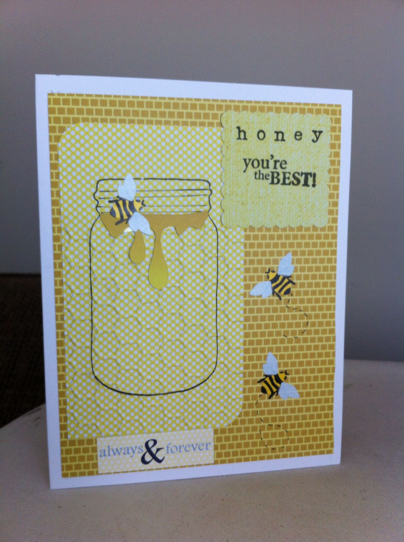 Anniversary Card - jar inspiration with the bees!