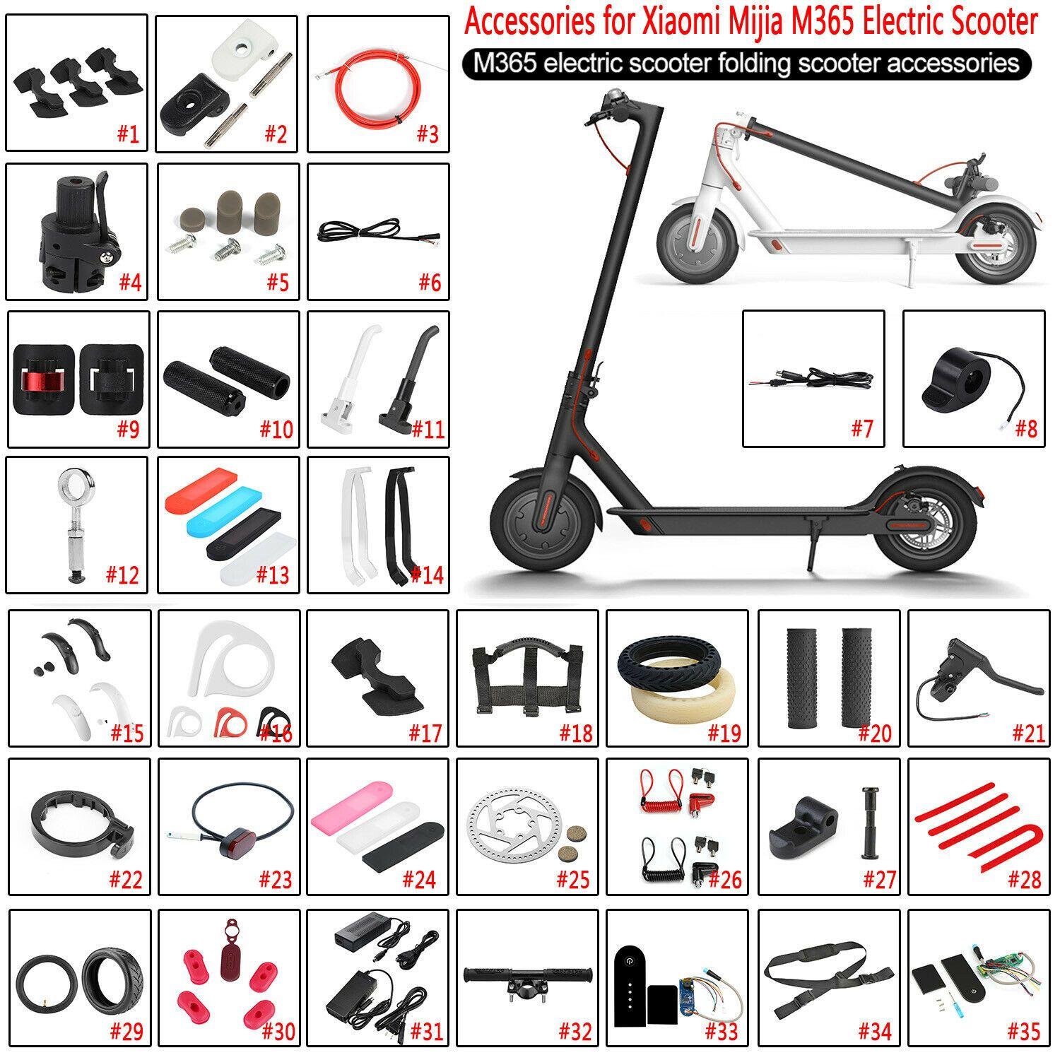 Details About For Xiaomi Mijia M365 Miscellaneous Electric Scooter Repair Accessory Piece Show Original Title Electric Scooter Best Electric Scooter Electricity
