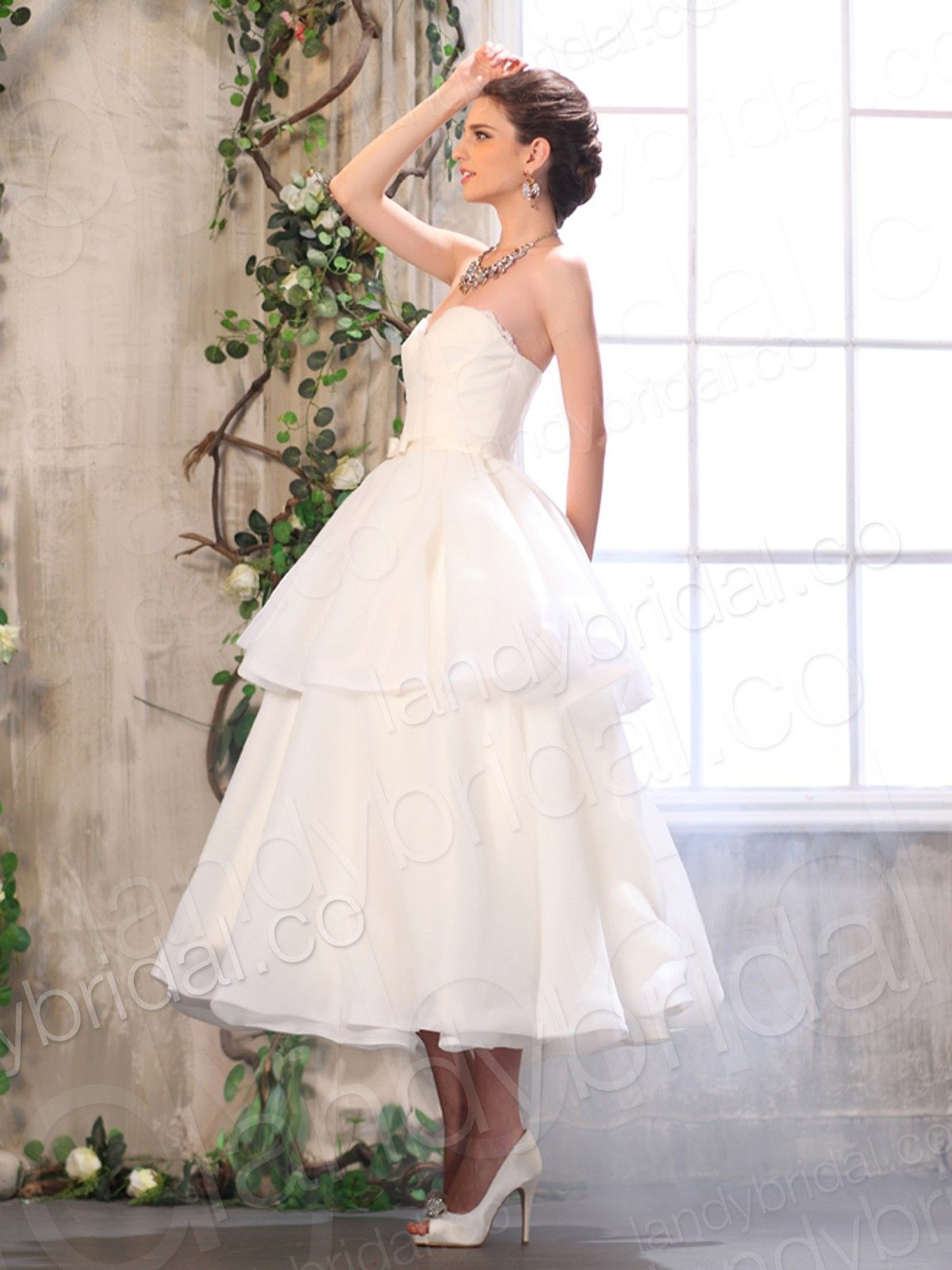 Wedding dress ankle length weddingbridesmaid dressesshoes