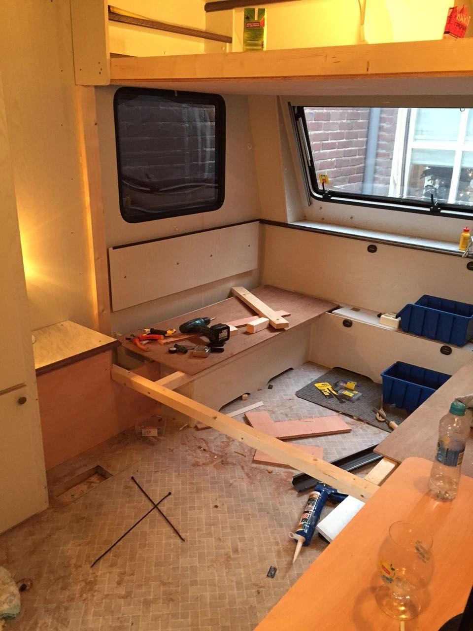 stapelbed maken in caravan caravanity chalet pimpen. Black Bedroom Furniture Sets. Home Design Ideas