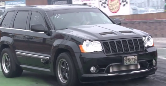 Jeep Grand Cherokee SRT8 with a 6 1 Liter Hemi engine,with