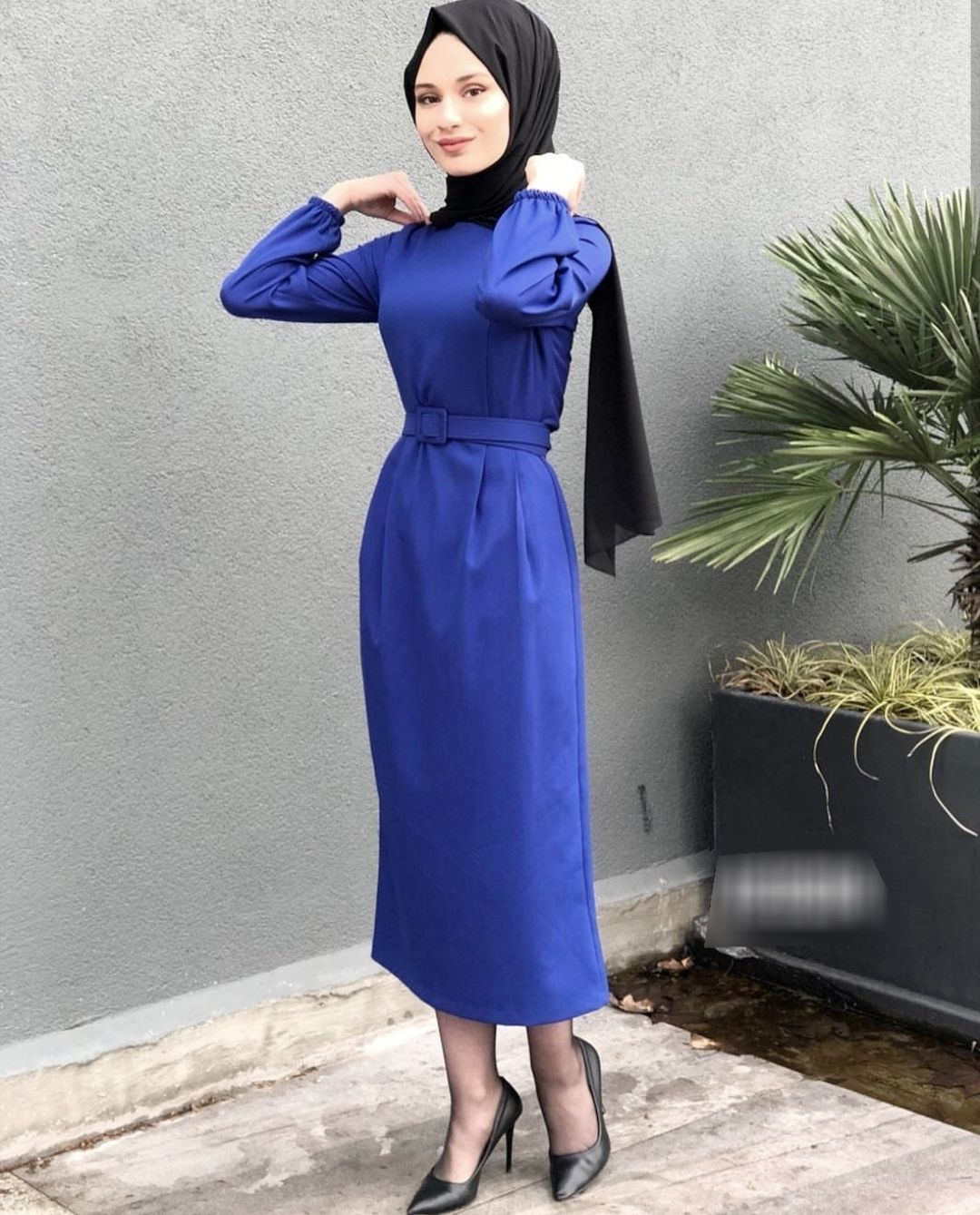Elfida Sik Tesettur Kalem Elbise Modelleri Moda Tesettur Giyim Kalem Elbise Elbise Modelleri Elbise