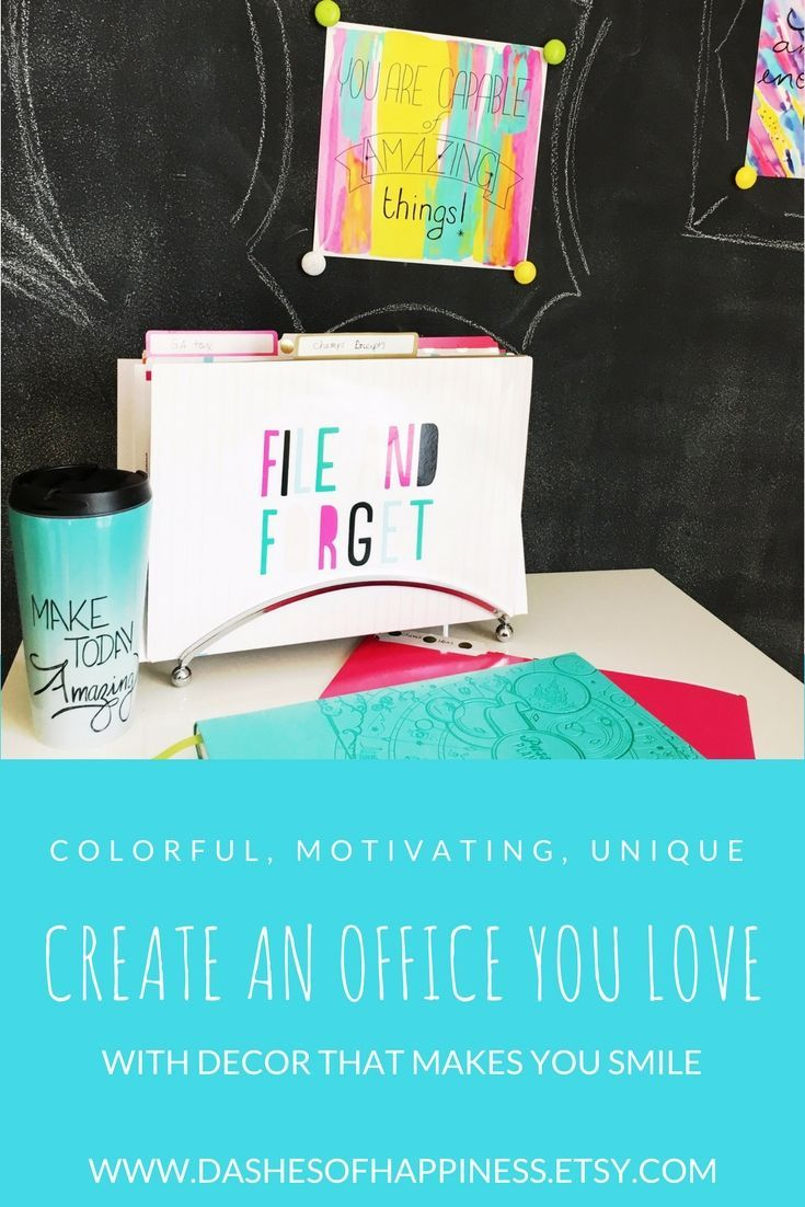 Motivating Art Prints, Colorful Notebooks, And Inspirational Quote Mugs To  Make Your Office Space
