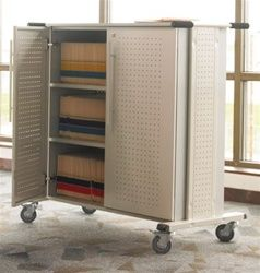 Professional 3 shelf file cart with industrial quality. #Mayline #FileCart #MobileCart