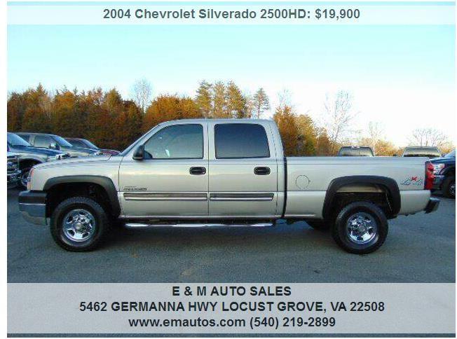 2004 Chevrolet Silverado 2500HD Work Truck Duramax Diesel ...