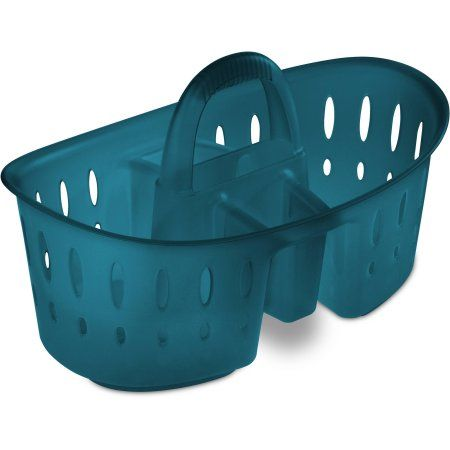 Sterilite Bath Caddy, Corsair Tint, Blue | Bath caddy, Walmart and ...