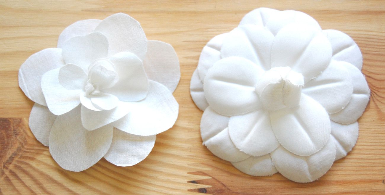 Diy Chanel White Fabric Flower Tutorial Fabric Flower Tutorial Fabric Flowers Camellia Flower