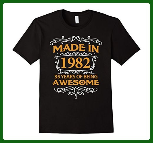Mens 35th Birthday Gift T-Shirt Made In 1982 - 35 Years Old Shirt Large