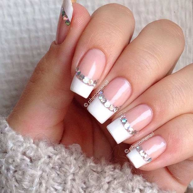 31 Cool French Tip Nail Designs - 31 Cool French Tip Nail Designs French Nails, Manicure And Makeup