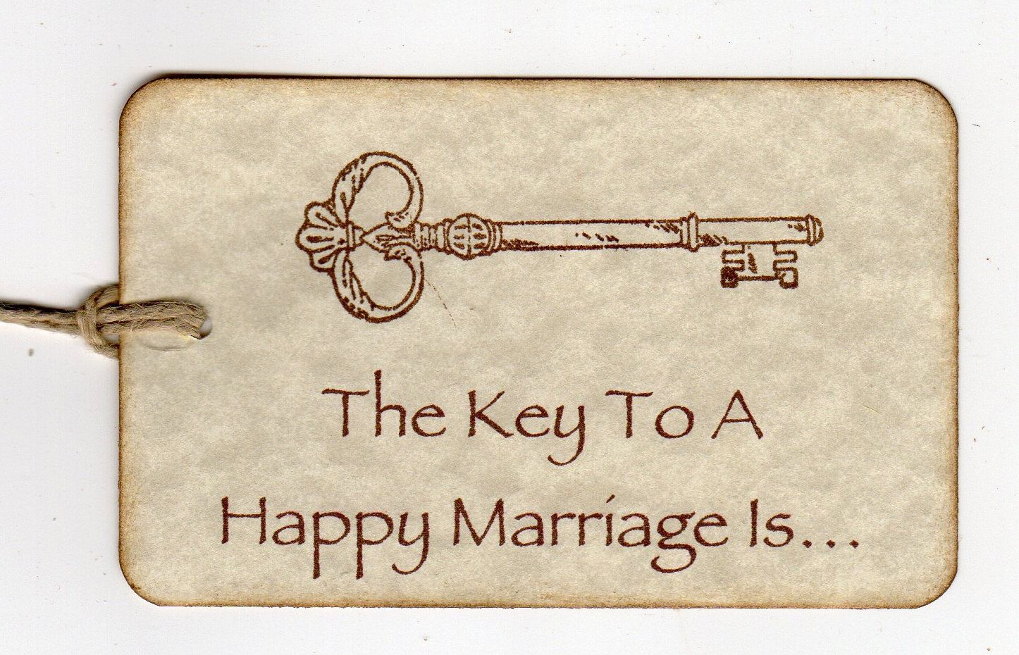 Key to a happy marriage tags