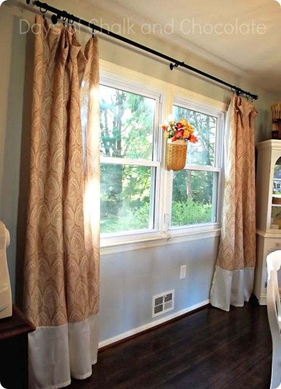 Shower Curtains Turned Dining Room Home Decor Drapes
