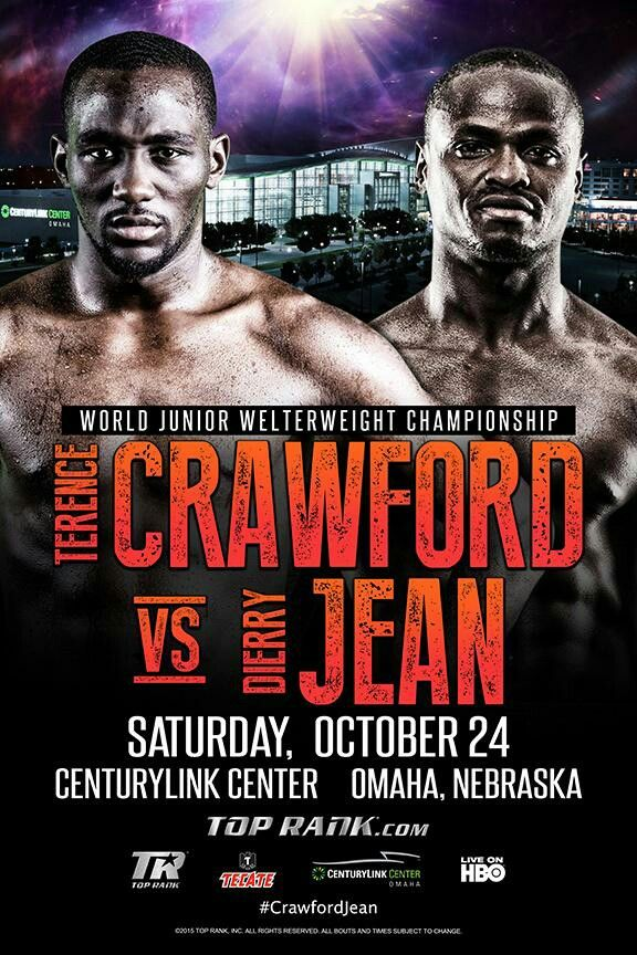 2017 Crawford vs Diaz World Junior Welterweight Championship Poster Boxing