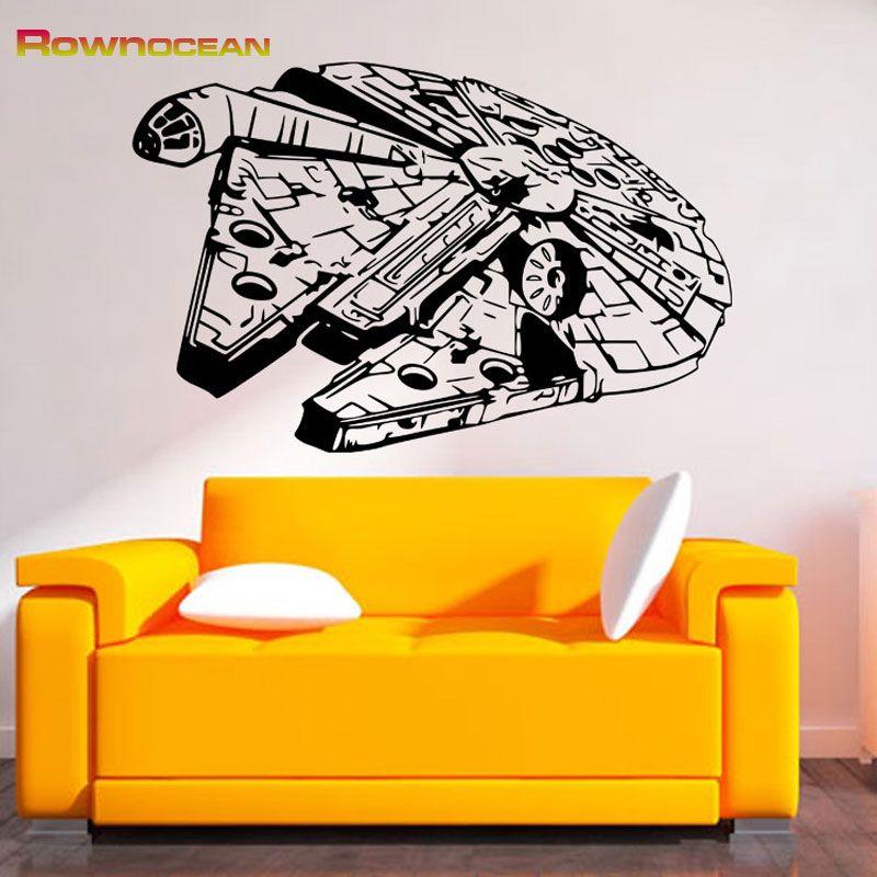 Star Wars Spacecraft Millennium Falcon Wall Stickers For Children ...