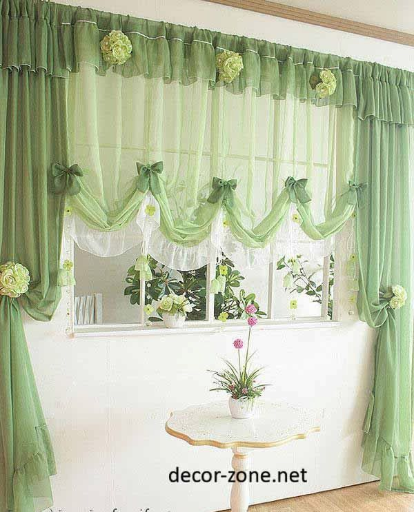 modern kitchen curtain ideas in green | Cortinas y cenefas ...