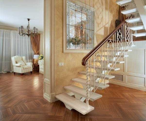 Интерьер лестницы на второй этаж в частном доме фото   Дом ...