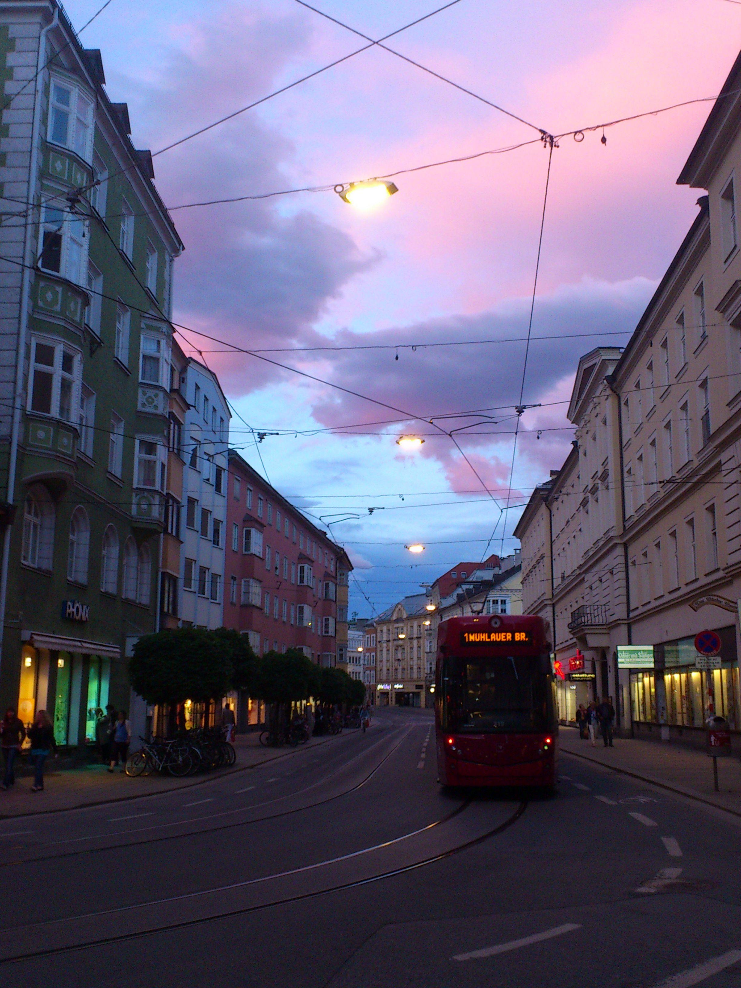 evening atmosphere in #Innsbruck - Austria