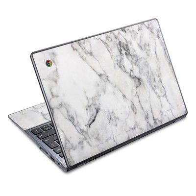 Acer Chromebook C720 Skin White Marble Chromebook Case