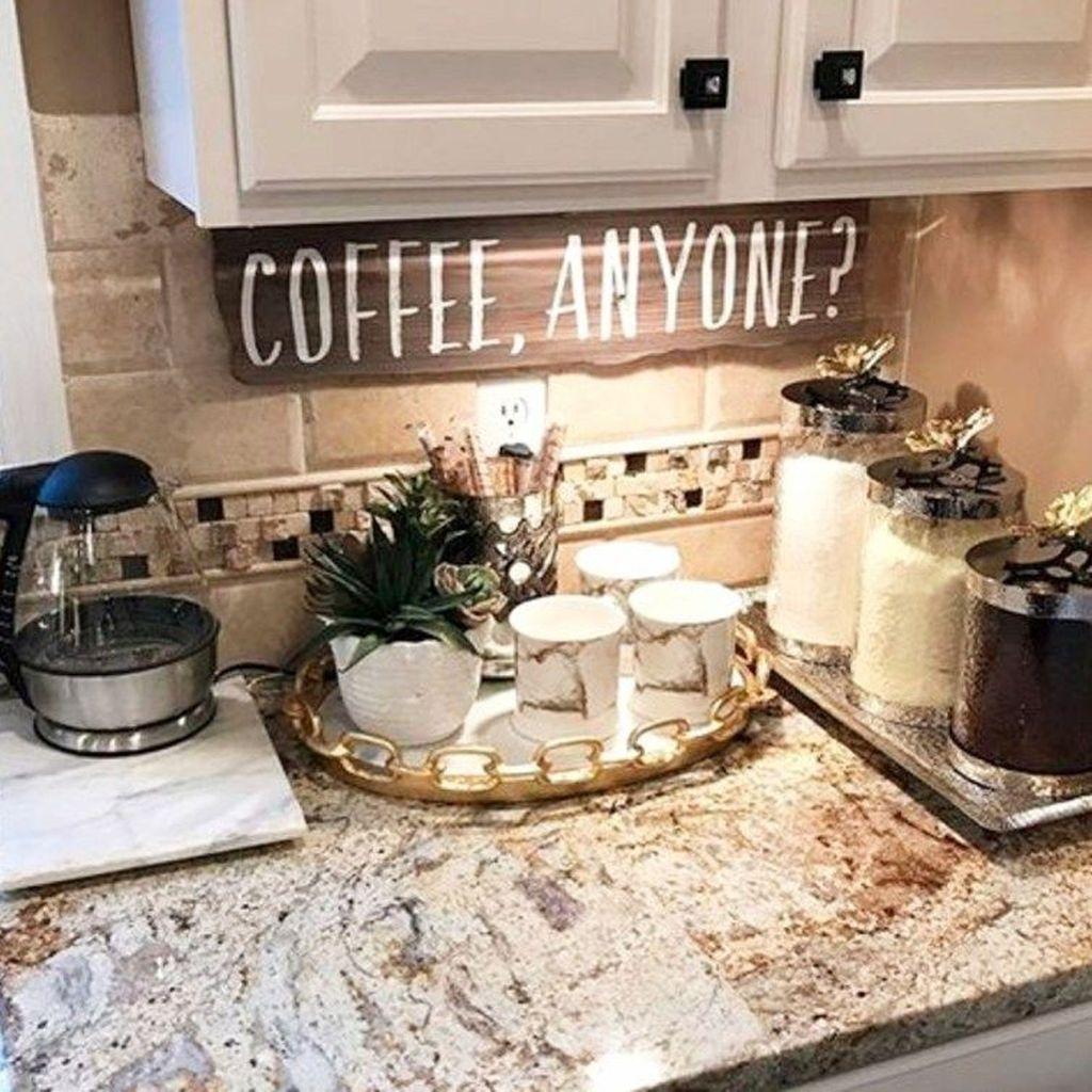 48 Easy Diy Home Coffee Bar Ideas For Coffee Addict Decoomo Com Coffee Bar Home Coffee Bars In Kitchen Coffee Kitchen