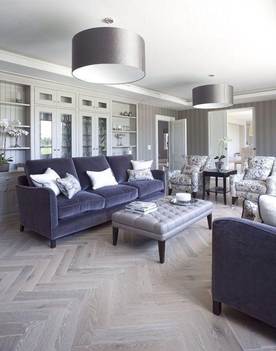 Decoraci n de interiores con sof s de terciopelo sillones de terciopelo decoracion de salas - Sillones para recibidores ...