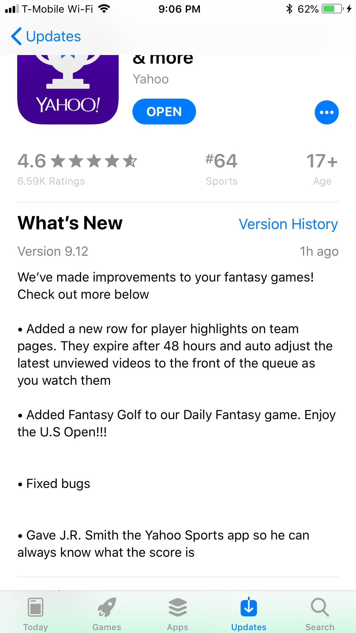 Latest Yahoo! Update  Check the last update note