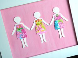 lilly cards made with shopping bags