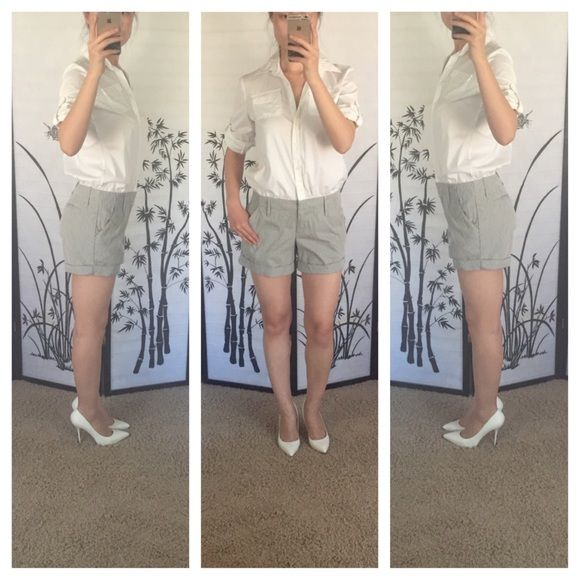 New York Company White Shirt Jumpsuit 120 Lbs Pant Jumpsuit And